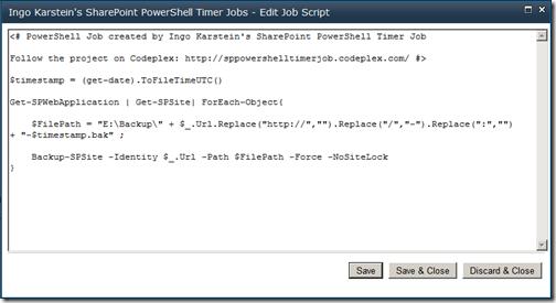 PowerShell script editor