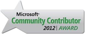 Microsoft Community Contributor Award 2012
